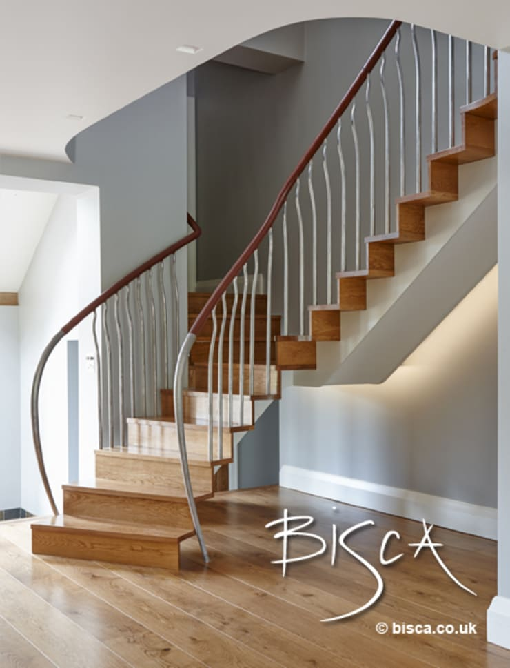 Organic & Natural Staircase:   by Bisca Staircases