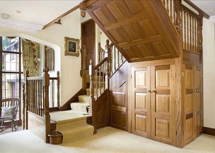 Hallway - Before & After:   by Bisca Staircases