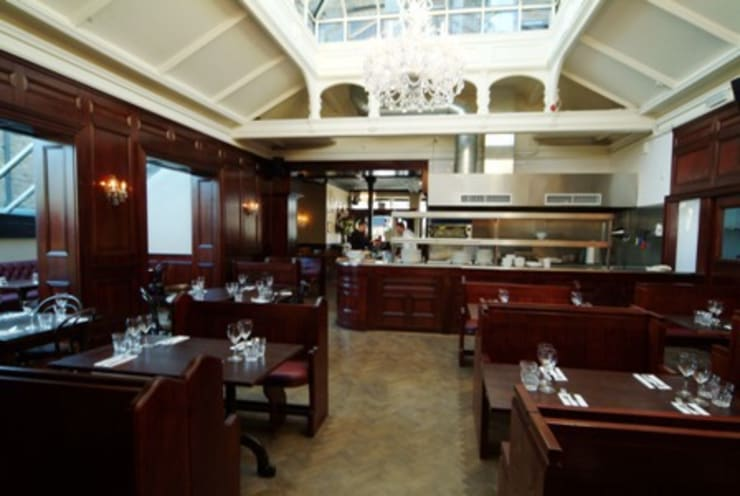 Hand & Flower Restraunt, London:  Walls & flooring by The UK's Leading Wall Panelling Experts Team