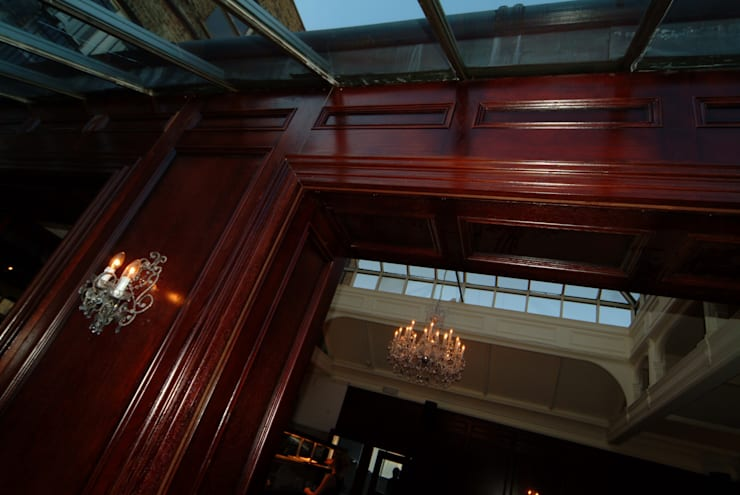Hand & Flower Restraunt London:  Walls & flooring by The UK's Leading Wall Panelling Experts Team