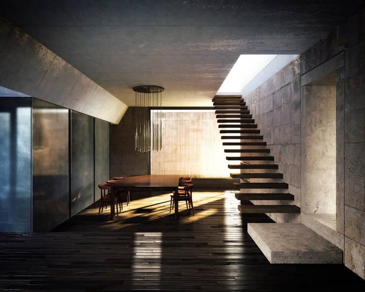 Infografia 3D vivienda en Pombal: Casas de estilo  de Berga&Gonzalez - arquitectura y render