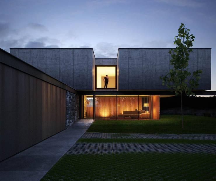 Casas de estilo minimalista por Berga&Gonzalez - arquitectura y render