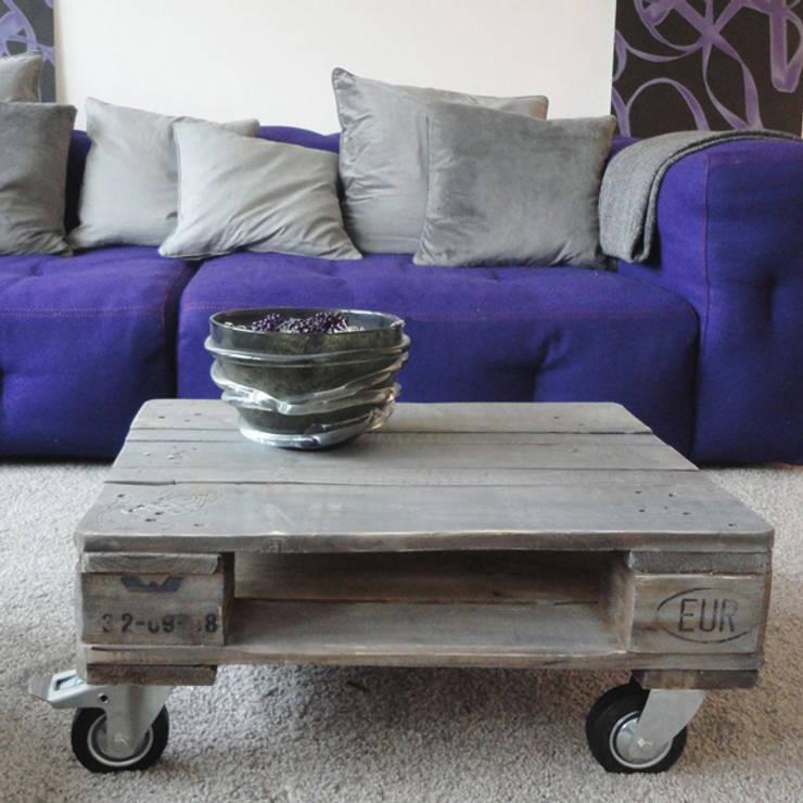 """Tisch """"Rotterdam"""", holzbohlengrau:  Wohnzimmer von Paletta"""