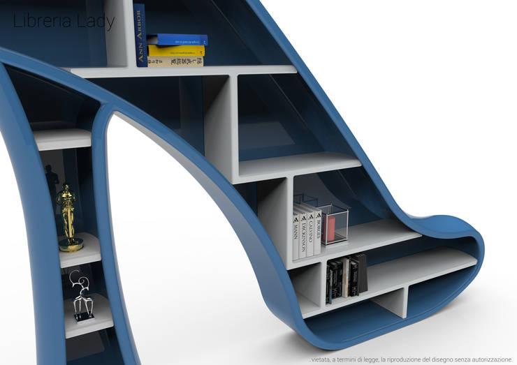 Libreria Lady: Soggiorno in stile  di Roberto Corazza,