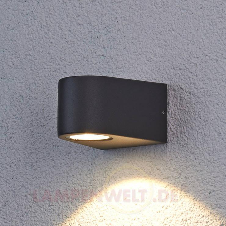 Nach unten strahlende LED-Außenwandleuchte Hermine: modern  von Lampenwelt.de,Modern
