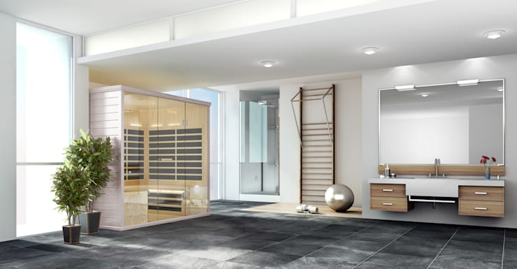 Gym infra red sauna:  Spa by Leisurequip Limited