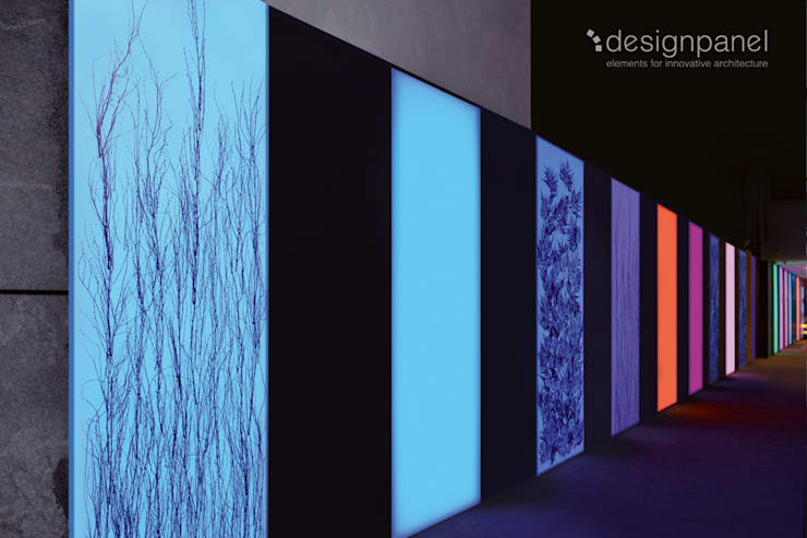 Lichtwand in München: Hotel + Boardinghouse Schiller 5 :  Hotels von Designpanel - Elements for innovative architecture