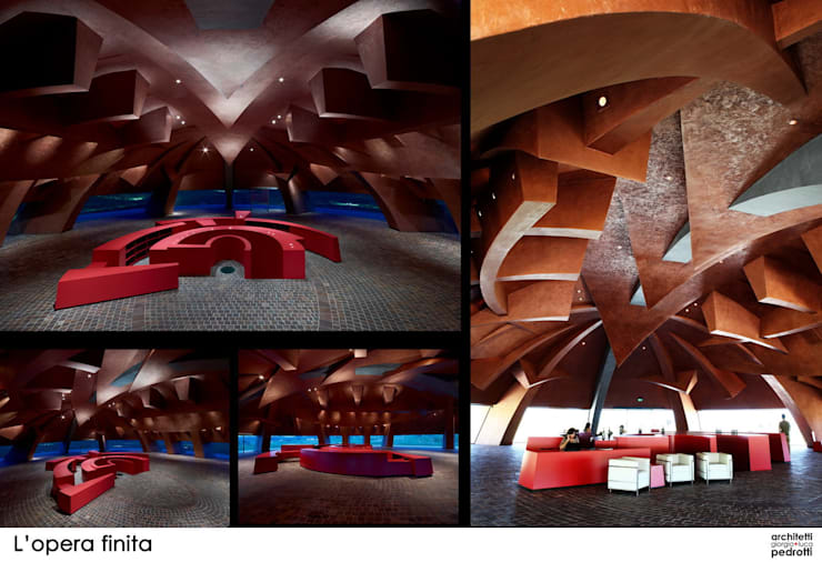 Tenuta Castelbuono, il Carapace: Cantina in stile  di luca pedrotti architetto