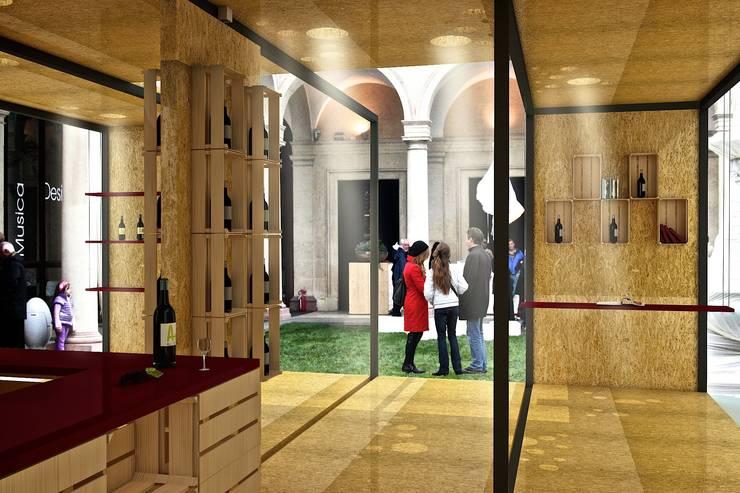 Wine Temporary Pavillion:  in stile  di Studio Hub - Officina Creativa, Minimalista