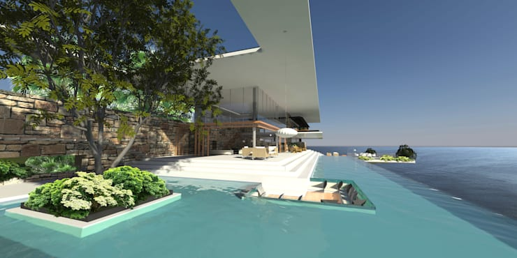 ULUWATU HOUSE:  Pool by Guz Architects