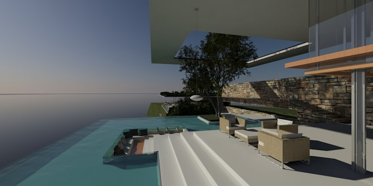 ULUWATU HOUSE:  Balconies, verandas & terraces  by Guz Architects