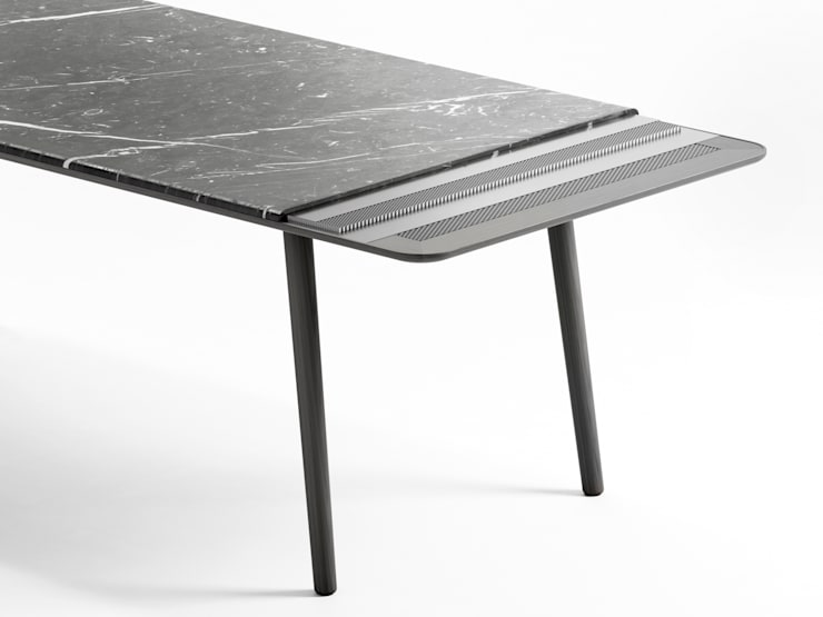 Table Arin: Maison de style  par Marbrerie Retegui