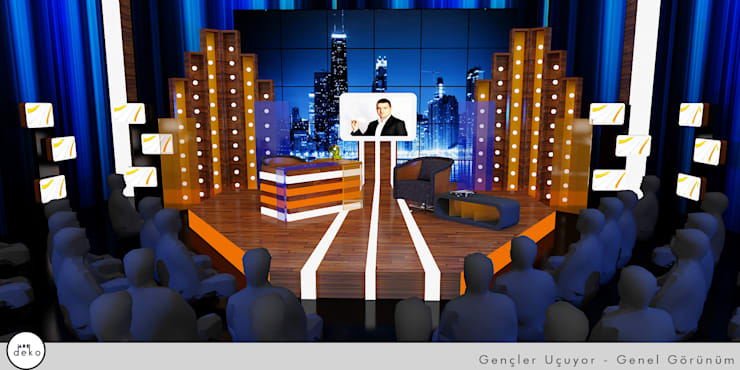 TV Set Design 3D drawing :  Conference Centres by AreDEKO & AreSETS