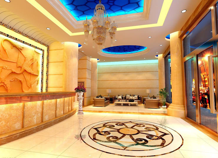 Water-jet Floor medallion:   by monarchy medallions