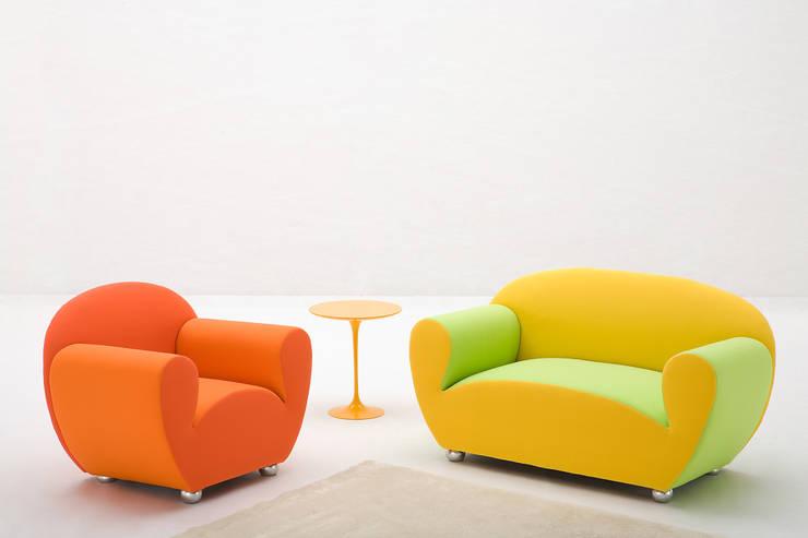 Salones de estilo ecléctico de Barbero Design di Fabrizio Barbero