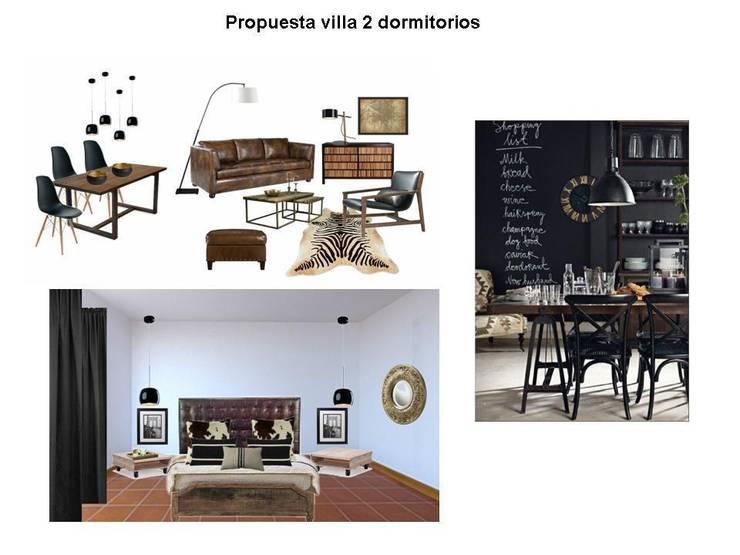Decoración estilo industrial : Salones de estilo  de Tatiana Doria,   Diseño de interiores