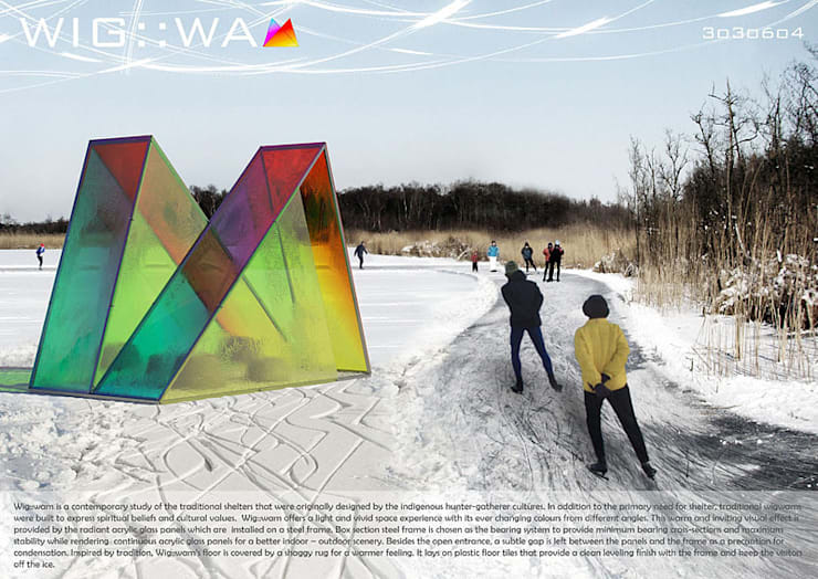 Warming Huts Competition Entry:   by Haag Architects