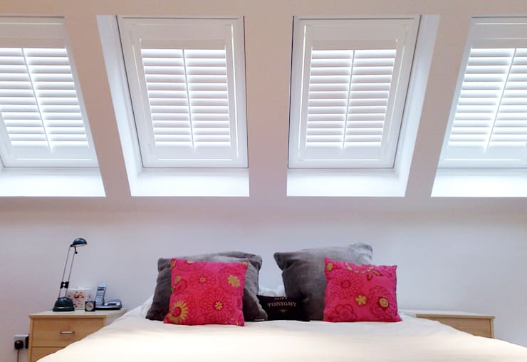 Full Height Shutters for Velux Windows:  Windows & doors  by Plantation Shutters Ltd