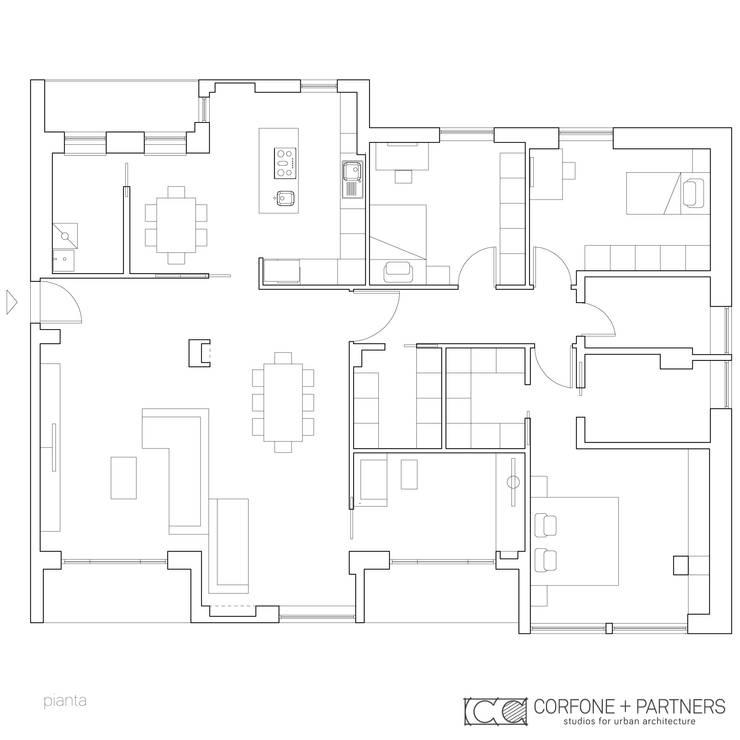 CASA 2L:  in stile  di CORFONE + PARTNERS studios for urban architecture
