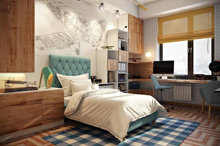 minimalistische Kinderzimmer von Дарья Баранович Дизайн Интерьера