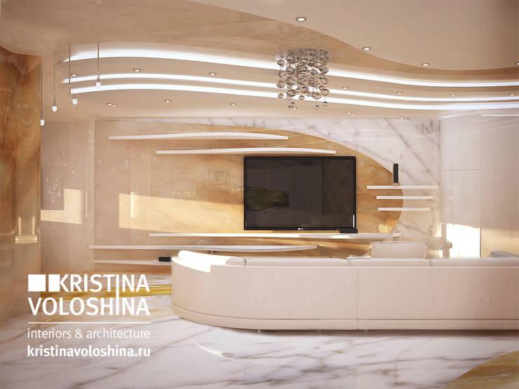 Современная квартира в Королеве: Гостиная в . Автор – kristinavoloshina