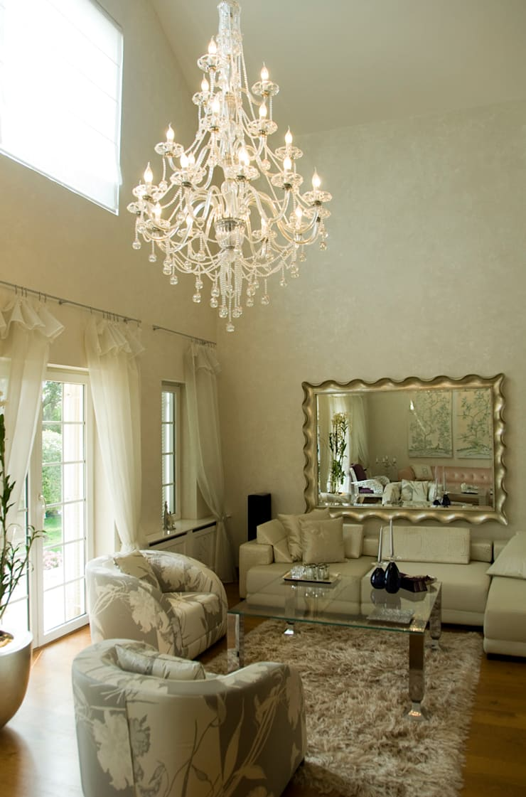 beykoz residence salon area:  Living room by ARKITEX INTERIORS