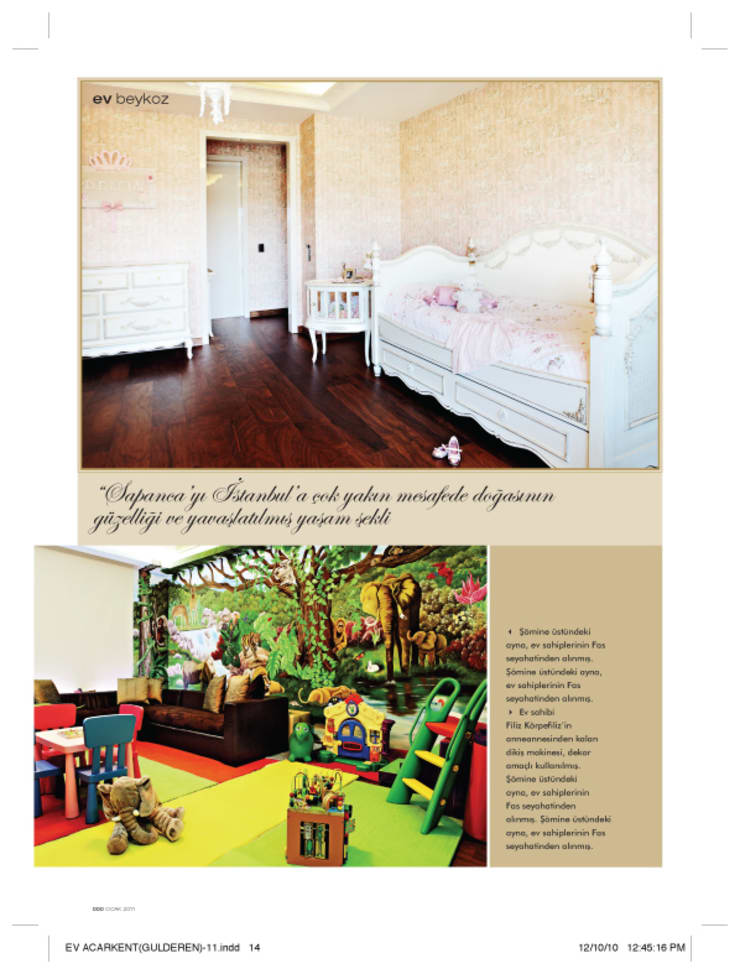 Baby room:  Houses by ARKITEX INTERIORS