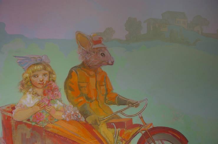 Mural infantil: Habitaciones infantiles de estilo  de mural x 3