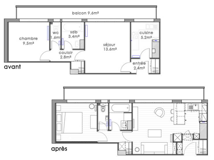 AU BORD DE L'OURC:  de style  par EC Architecture Intérieure