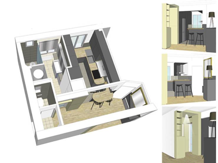 VUE SUR LA TOUR EIFFEL:  de style  par EC Architecture Intérieure