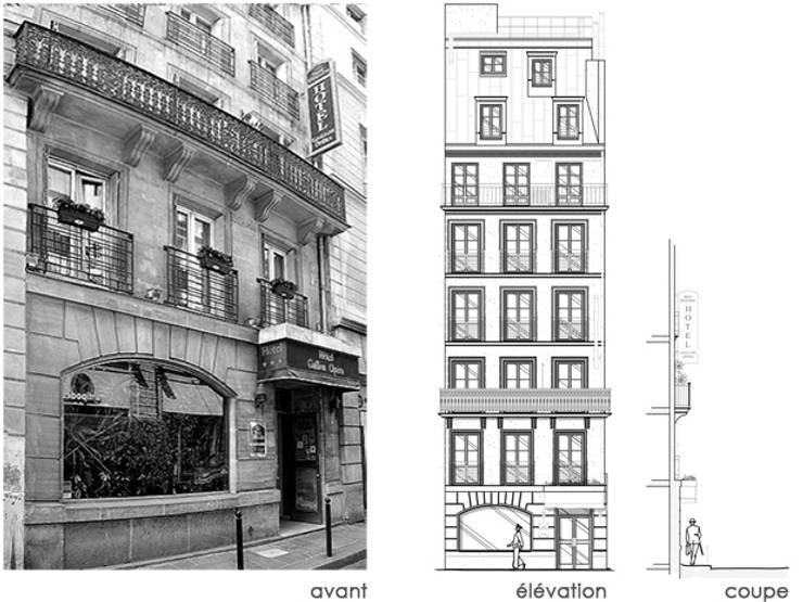 UN HOTEL A OPERA:  de style  par EC Architecture Intérieure
