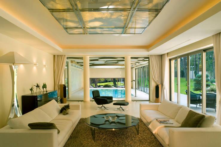 modern Living room by Zbigniew Tomaszczyk i Irena Lipiec Decorum Architekci Spzoo