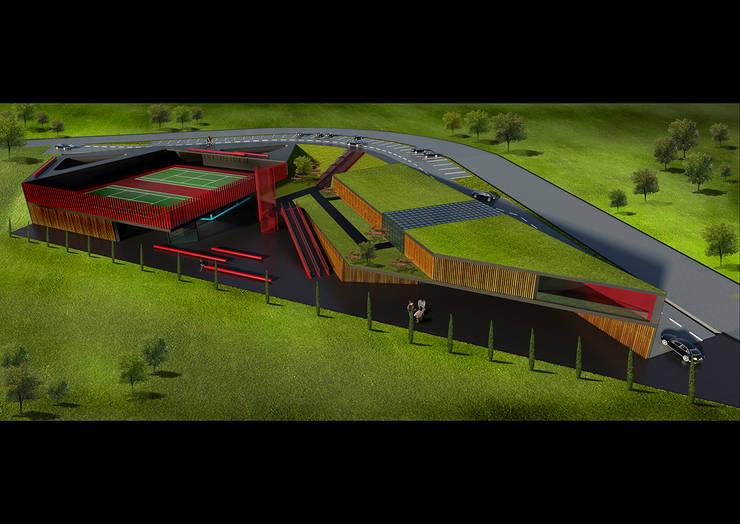 CO Mimarlık Dekorasyon İnşaat ve Dış Tic. Ltd. Şti. – Ankara Spor Kompleksi: modern tarz Evler