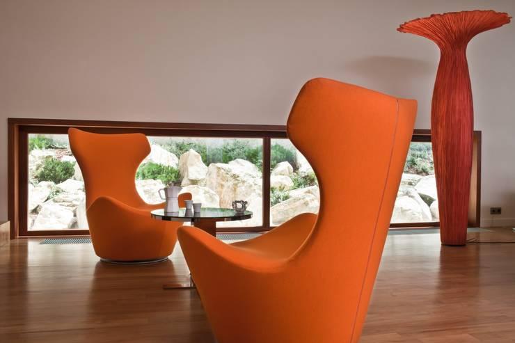 ห้องนั่งเล่น โดย Zbigniew Tomaszczyk  Decorum Architekci Sp z o.o.,