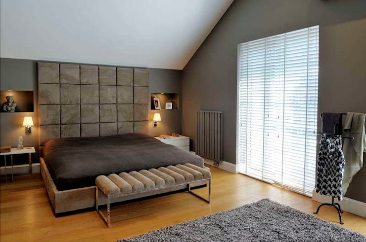 Esra Kazmirci Mimarlik: modern tarz Yatak Odası