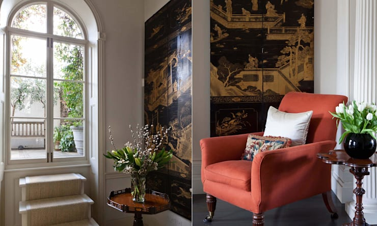 A Traditional English Home:  Living room by Rosangela Photography