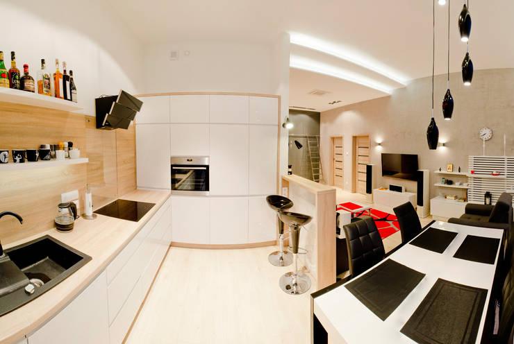 Mieszkanie Płock: styl , w kategorii Kuchnia zaprojektowany przez Tektura Studio Katarzyna Denst