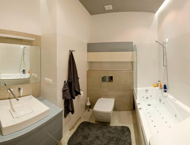 Mieszkanie Płock: styl , w kategorii Łazienka zaprojektowany przez Tektura Studio Katarzyna Denst