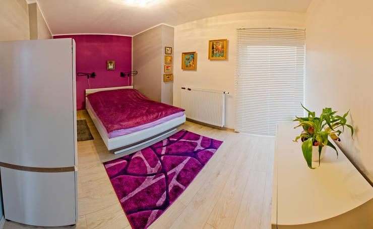 Mieszkanie Płock: styl , w kategorii Sypialnia zaprojektowany przez Tektura Studio Katarzyna Denst