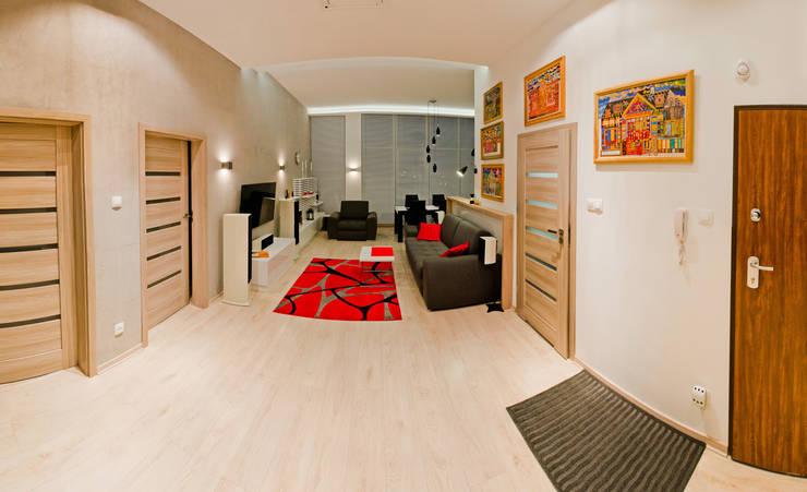 Mieszkanie Płock: styl , w kategorii Salon zaprojektowany przez Tektura Studio Katarzyna Denst