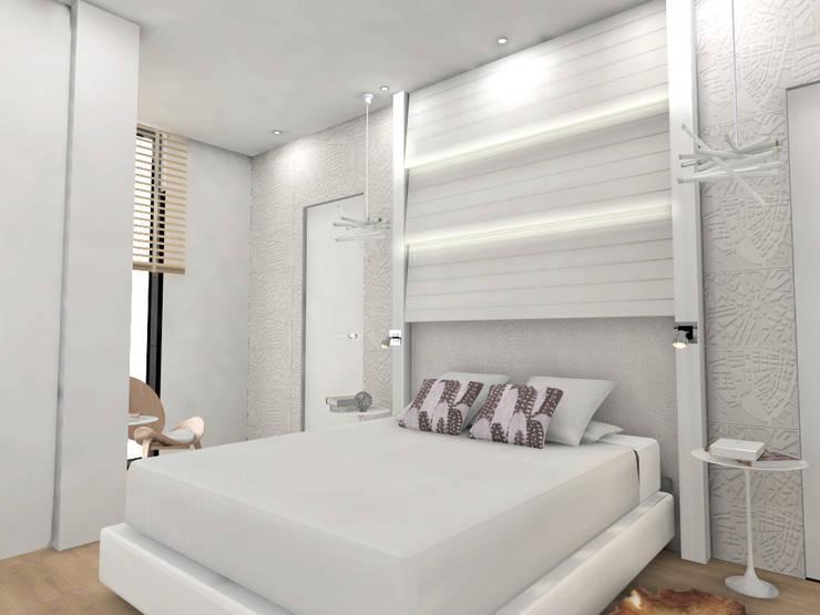 Dormitorio principal: Dormitorios de estilo  de CARMAN INTERIORISMO