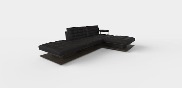 BROOKLYN: Soggiorno in stile  di Mambro Design Studio di Filippo Mambretti