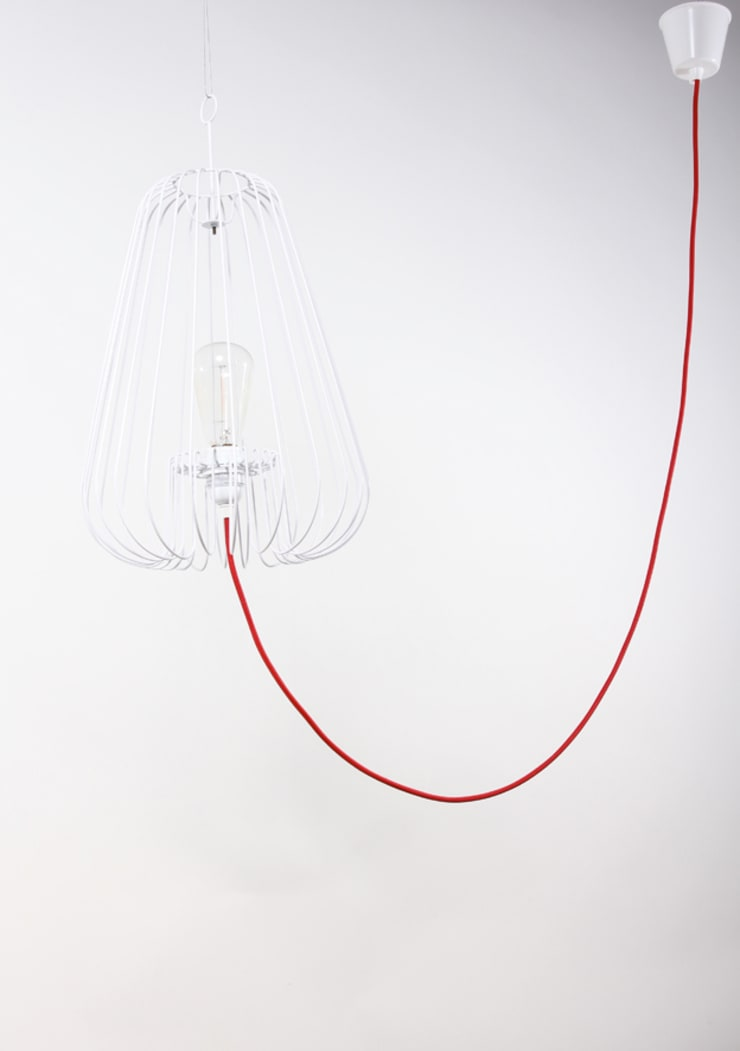 Light Cage in white - design Jocelyn Deris:  Living room by La Corbeille Éditions