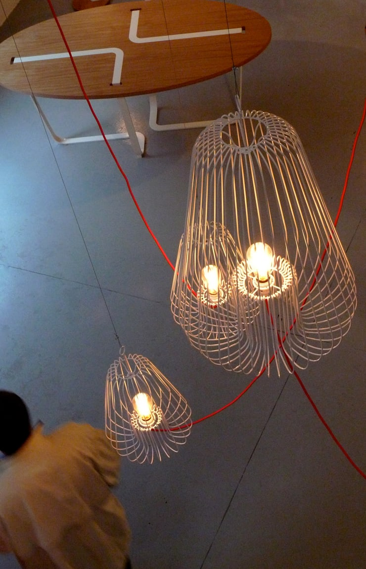 Light Cage by Jocelyn Deris:  Living room by La Corbeille Éditions