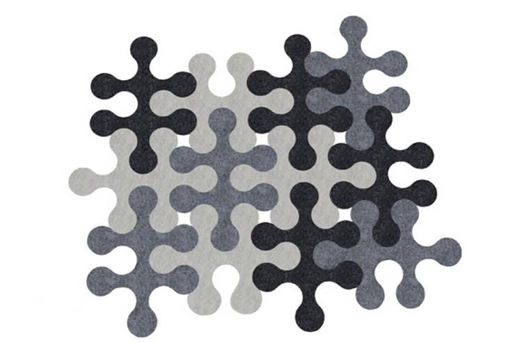 Molecule carpet:  Living room by La Corbeille Éditions