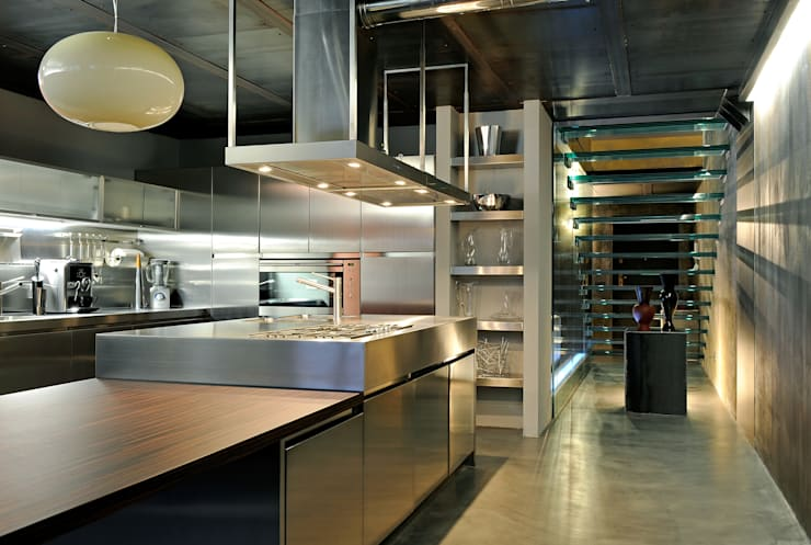 Cocinas de estilo industrial de vemworks