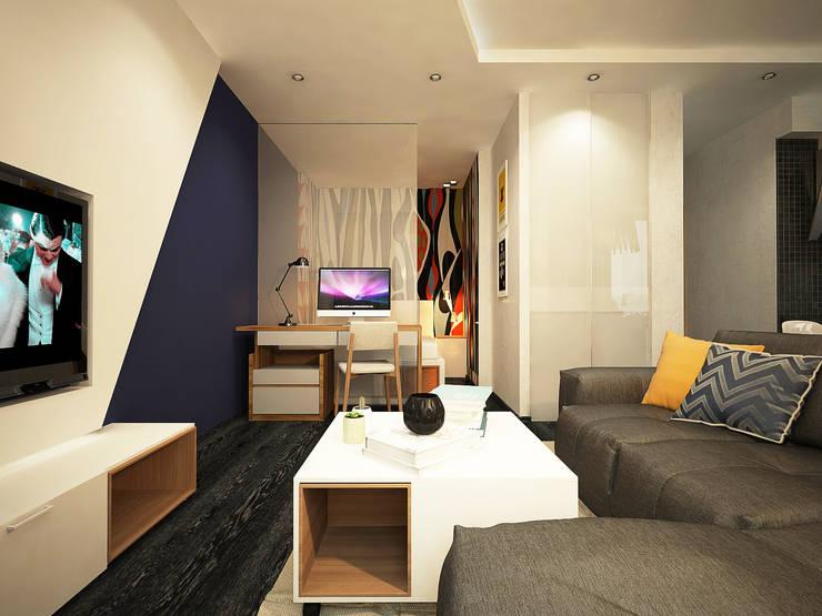 Дизайн однокомнатной квартиры.: Гостиная в . Автор – Александра Петропавловская
