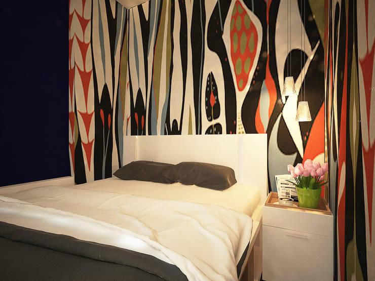 Дизайн однокомнатной квартиры.: Спальни в . Автор – Александра Петропавловская