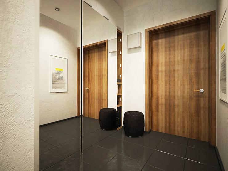 Дизайн однокомнатной квартиры.: Коридор и прихожая в . Автор – Александра Петропавловская