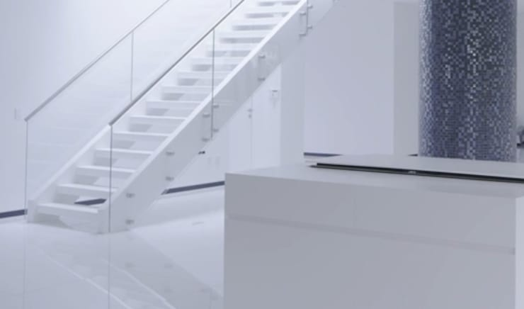 modern Corridor, hallway & stairs by Siller Treppen/Stairs/Scale